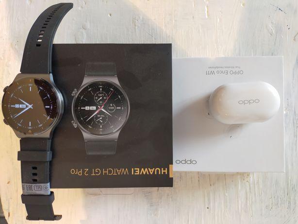 Продам смарт часы Huawei watch gt 2 pro и беспроводной наушник ОРРО