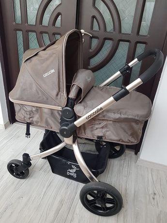 Cărucior copil 2 în 1  Coccolle + scoică și scaun mașină.