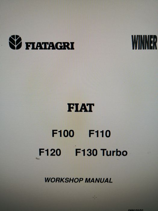 Manual service Fiat F100 F110 F120 F130 turbo Fiatagri Winner carte Plesoiu - imagine 1