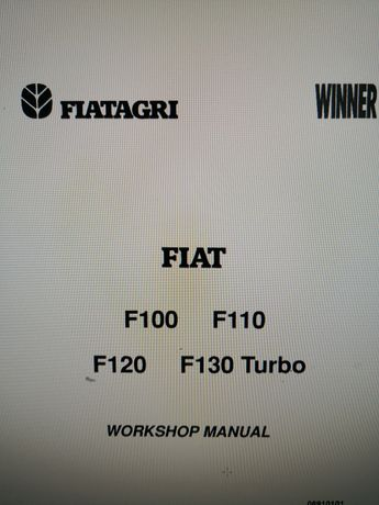 Manual service Fiat F100 F110 F120 F130 turbo Fiatagri Winner carte