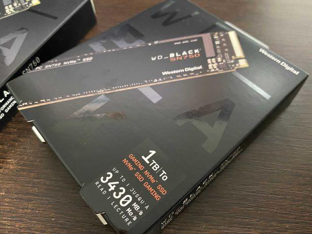 WD Black SN750 NVMe, 1TB, M.2 G3  Up to 3,470 MB/s