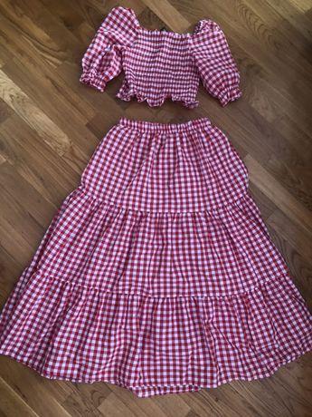 Двойка юбка и кофточка