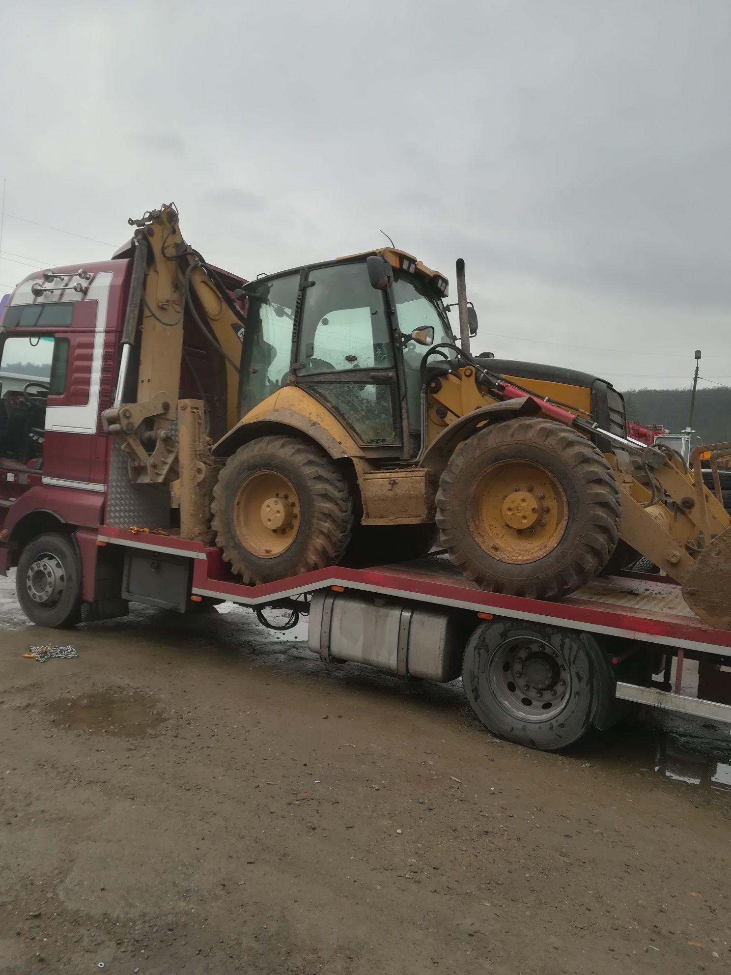Transport utilaje, buldo, tractoare, taf, cap tractor, etc.
