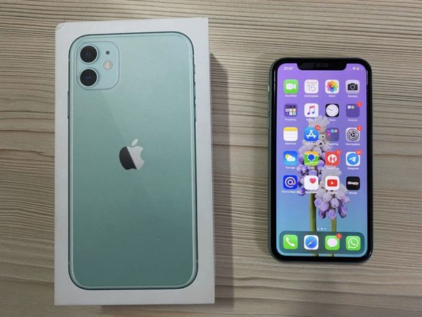 Продам iPhone 11 64gb Tiffany/green