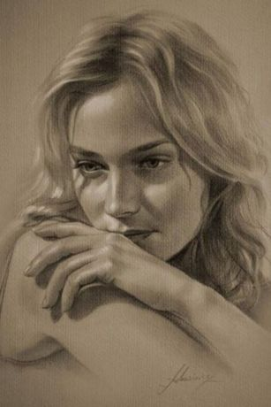 portrete pictate pe pinza,caricaturi peizaje,pictor cu experienta
