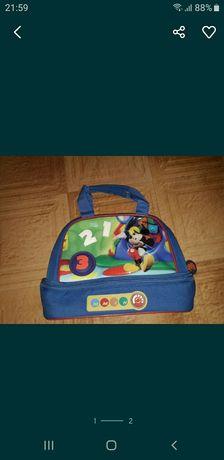 Genta de școală Disney Mickey Mouse și Prințesa Bella și Aurora .