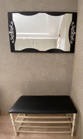 Вешалка обувная зеркало