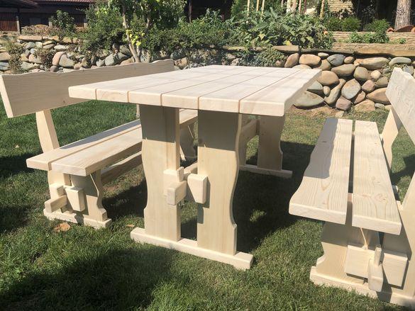 Градински комплект(баварска маса с пейки)