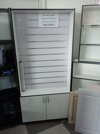 Витрины с эконом панелями экспо шкафы полки стеллажи