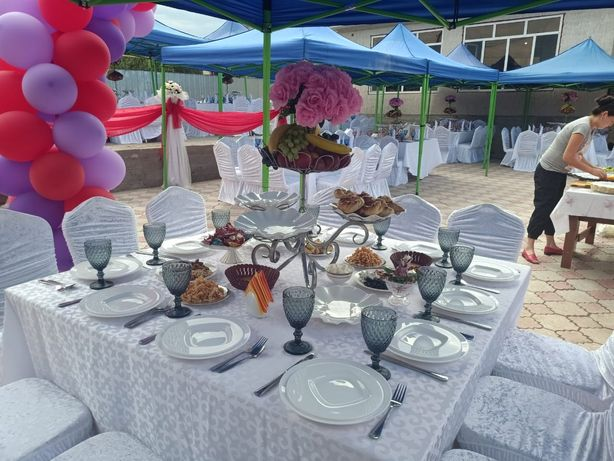 Фуршет, банкет,  свадьба,кудалык,той,ресторан,стол,стул,палатка,посуда