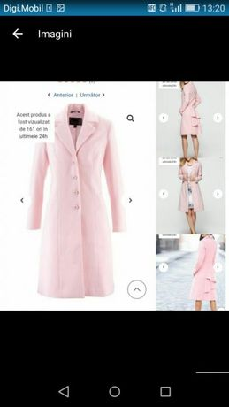 Palton roz elegant superb