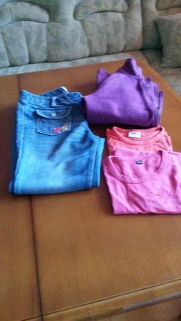 Лот дънки, тениски и сутчер