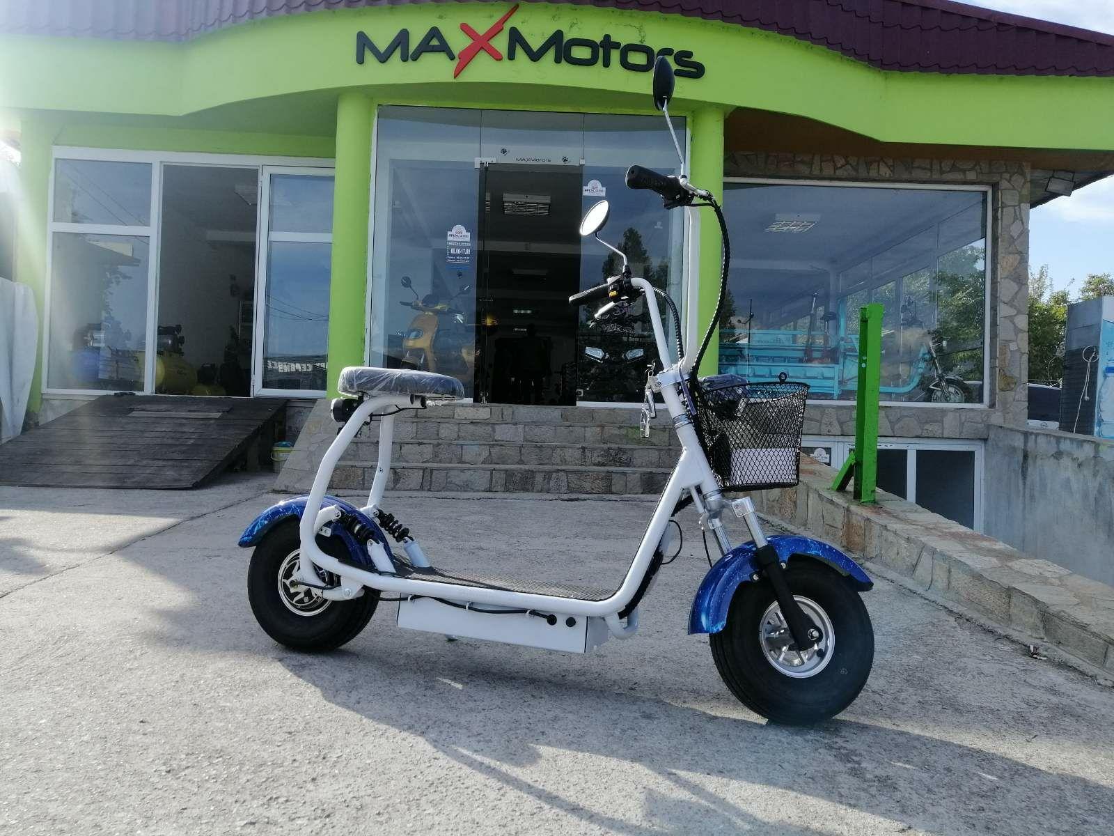 City Harley 1200W NEW MODEL. ЕЛЕКТРИЧЕСКИ СКУТЕР Maxmotors Little