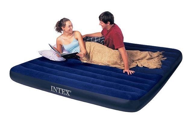 Трехспальный надувной матрас Intex. Бесплатная доставка.KASPI RED