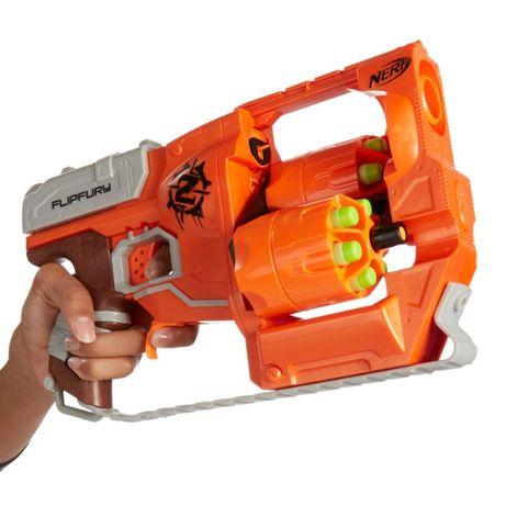 Pistol de jucarie Nerf Blaster Flipfury Zombie