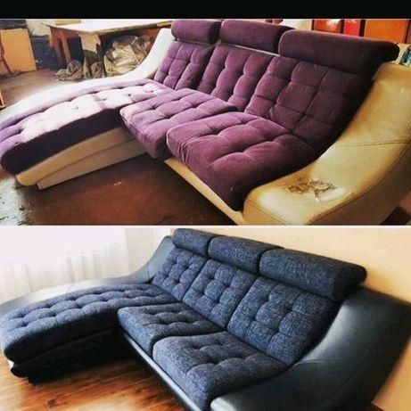 Перетяжка и изготовление мягкой мебели!!!