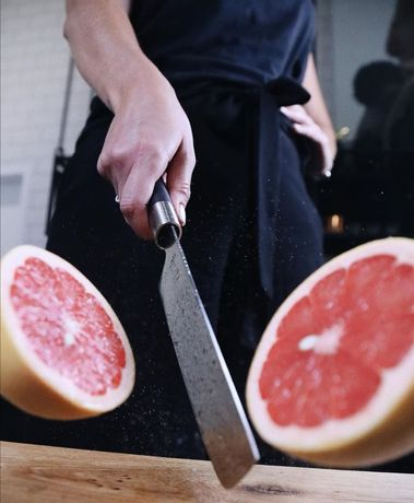 Японски нож KAI Nakiri Wasabi Black, включена доставка