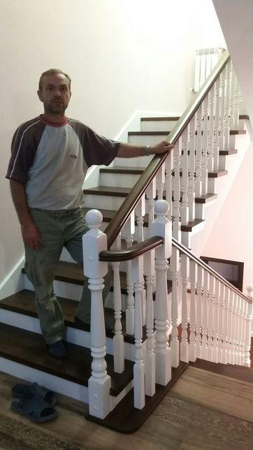 Изготовление и монтаж Лестниц из бука,дуб ясень сосна.любой сложности