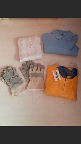 Работни ризи чисто нови и два чифта ръкавици