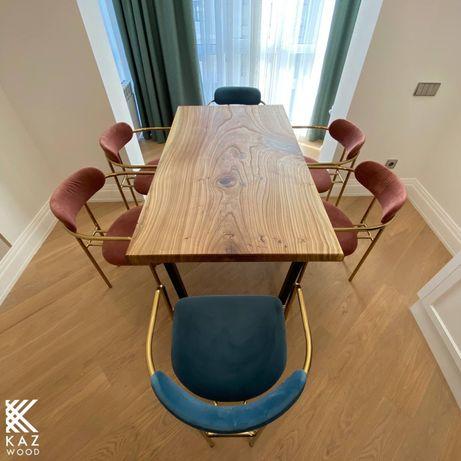 Столы и столешницы из массива дерева Карагач и эпоксидный смолы