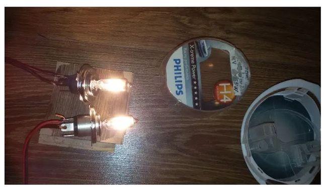 Becuri H4 Philips extreme power +130% mai multa lumina