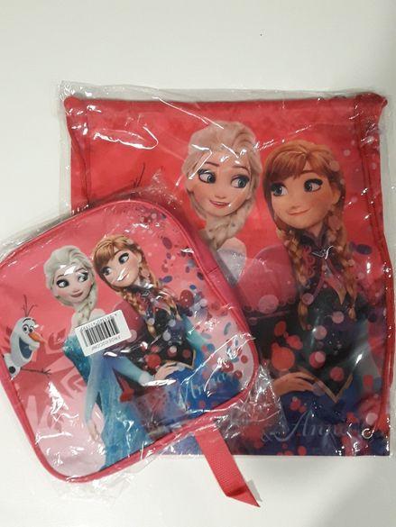 Нов комплект раница и мешка Елза и Ана/ Frozen/Леденото кралство