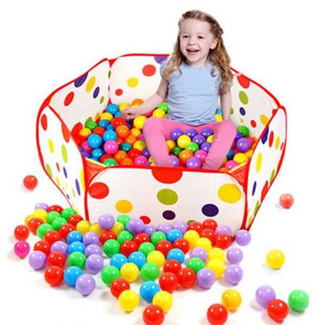 Сгъваем детски кът POP UP тип басейн с топки 90 х 36 см
