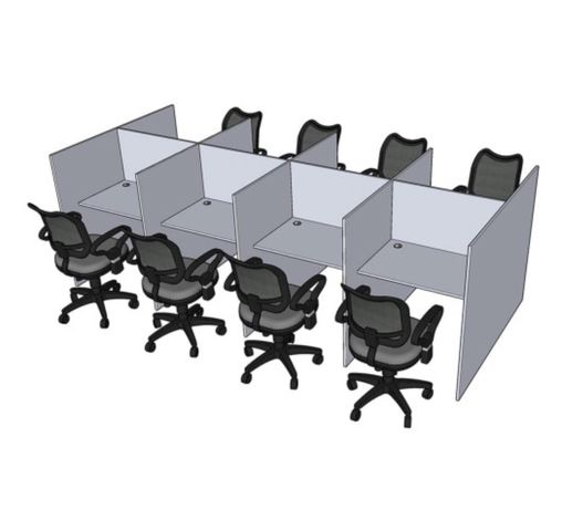 Стол для колл центра со звукоизоляцией