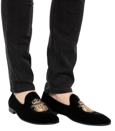 Pantofi loafers de lux BILLIONAIRE velvet 40 piele catifea naturala