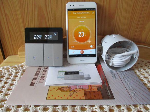 Последно поколение WiFi - Смарт термостат за подово отопление.