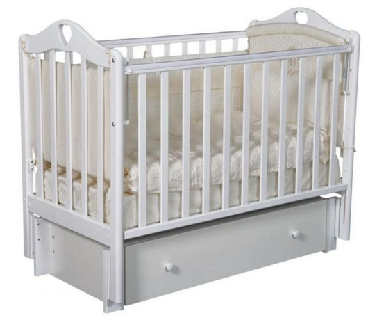 Детская кроватка Каролина-4 с маятником манеж Алматы кровати манежи