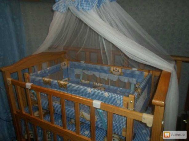 Детская кроватка манеж с колыбелью