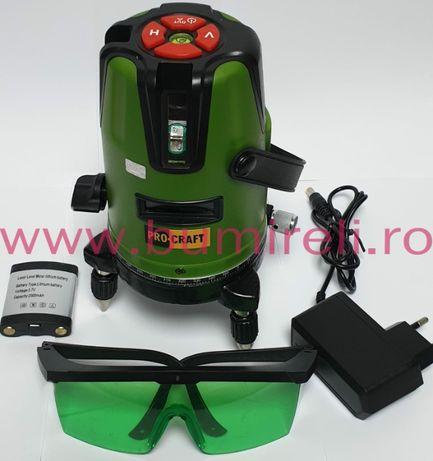 Nivela laser 3 linii PROCRAFT LE 3D profesional , lumina verde