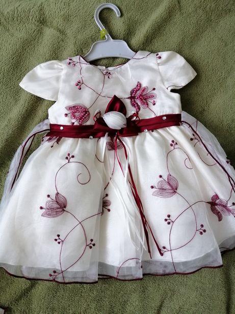 Rochiță de ocazie fetita 0-3 luni