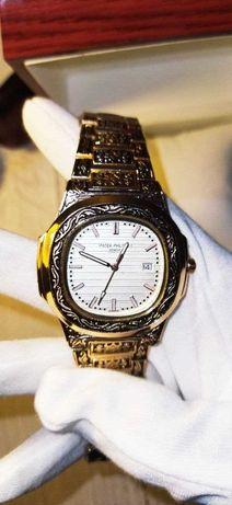 Мужские наручные часы Patek Philippe цвет ЗОЛОТА!