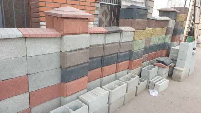Пескоблоки, блоки стеновые бетонные,цветные и прочные брусчатки