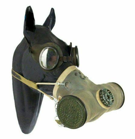Masca de gaze pt cai sovietica WW1 / WW2 / Russian gas mask for horse