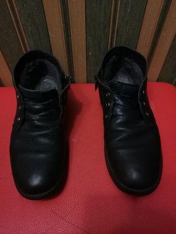 Ботинка зимная кожа