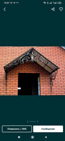 Козырек навес крыша на дом размер 2 * 1