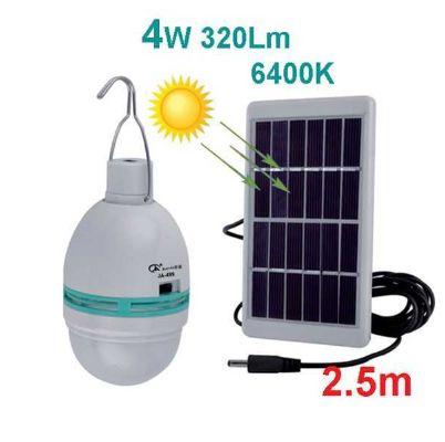 Презаредима соларна крушка с отделен соларен панел