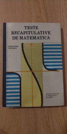 Vand carte Teste recapitulative de matematica