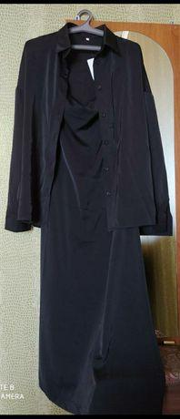 Новое платье комбинация с рубашкой
