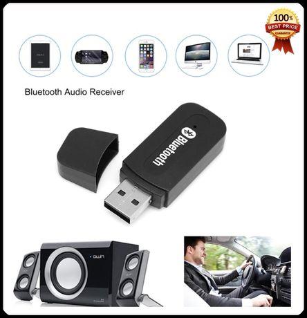 Блутут за кола Bluetooth флашка USB и Aux аудио приемник жак адаптер