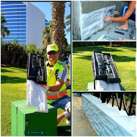 FACEȚI-VĂ SINGURI PIATRA matrite gard beton isos constructi pavele
