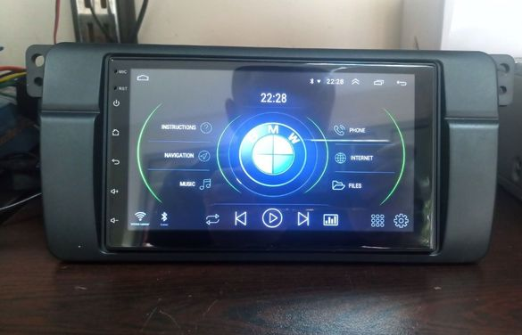 7 инча Android 10 GPS мултимедия с 2 GB RAM за BMW E46 + задна камера