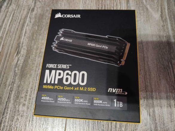 Ssd диск  Corsair Force MP600 series Gen4 NVMe 1TB Черен