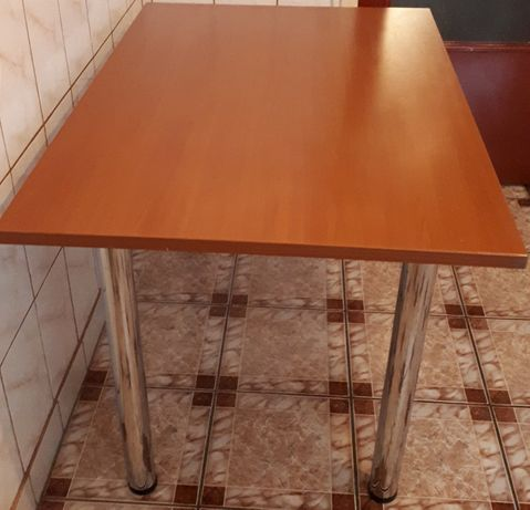 Oferta! Masa 120x80 + 4 scaune inox si piele naturala, impecabile!