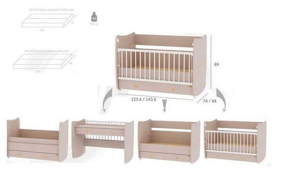 Детско легло бюро Lorelli Dream New, дървесен декор.