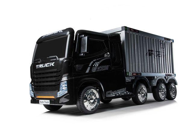 Camion electric cu semiremorca BJJ2011 4x4 140W PREMIUM #Negru