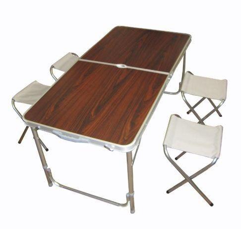 Стол складной туристический для пикника со стульями 4 шт. (120x60x70/5